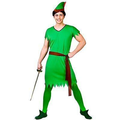 ROBIN HOOD PETER PAN LOST BOY ELF One Size Plus FAST POST Mens Fancy Dress](Plus Size Peter Pan Costume)