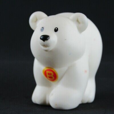 Fisher Price Little People A to Z Learning Zoo Letter B Polar Bear Figure 2004