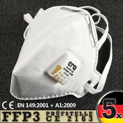 FFP3 Maske mit Ventil Atemschutzmaske von ERA Wiederverwendbar CE Zertifiziert