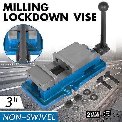 3 Non-swivel Milling Lock Vise Bench Clamp Fix Workpieces Lock Vise Precision