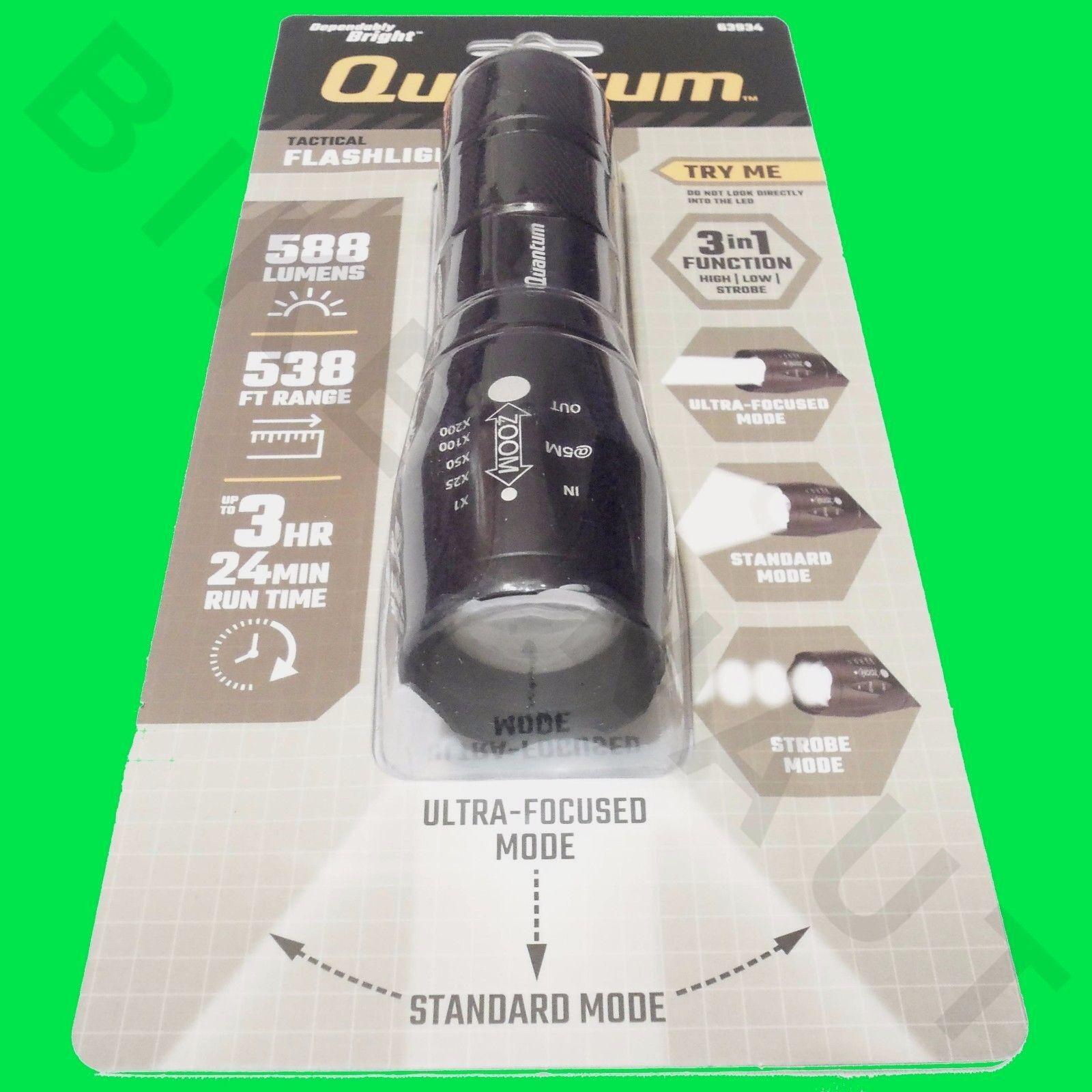 Quantum Focusing Tactical Flashlight QFL-588 3 modes 588 lum