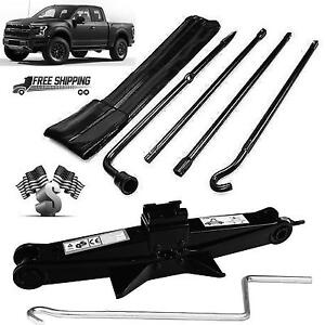 For (04-14 ) Ford F150 Spare Tire Tool Kit Lug Wrench Set + 2 Tonne Scissor Jack