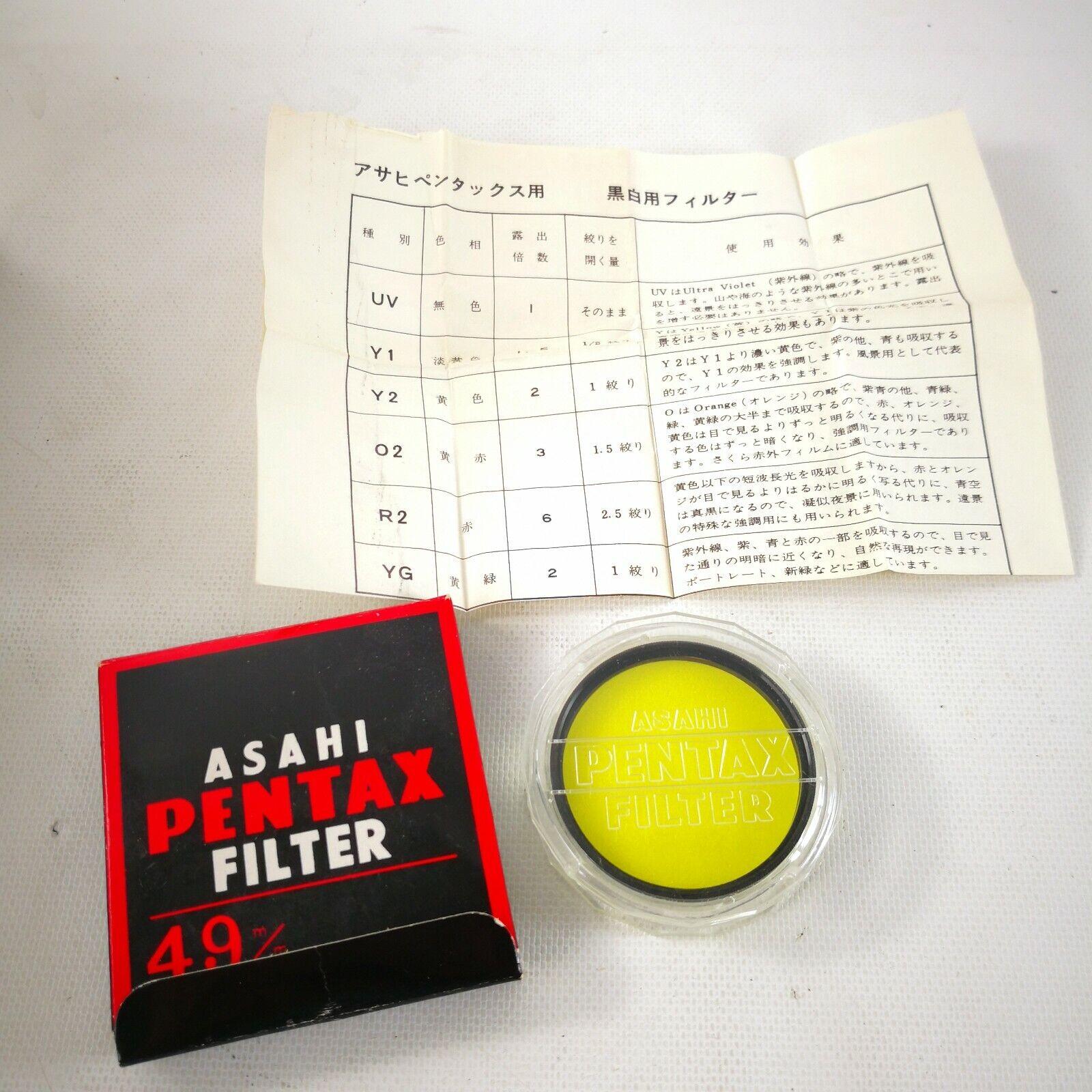 Asahi Pentax 49mm Y 2 Filter  - $9.99