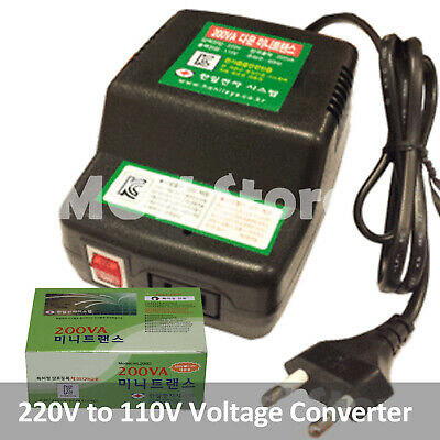 220V to 110V Step Down Power Voltage Converter Transformer Max Power 200VA 200W