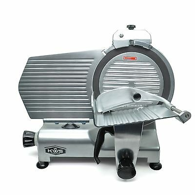 Kws Premium Commercial 420w Electric Meat Slicer 12 With Teflon Blade