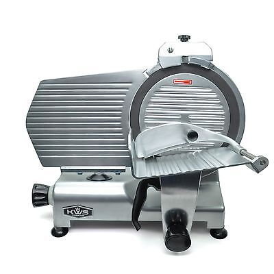 """KWS Premium Commercial 420W Electric Meat Slicer 12"""" with Teflon Blade"""