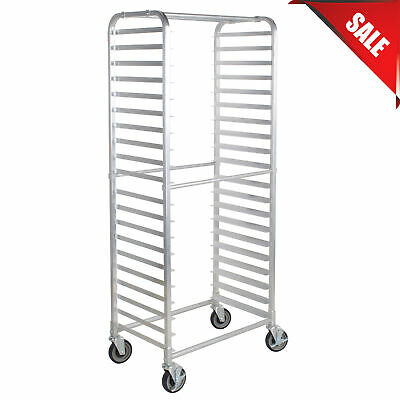 20 Pan Aluminum Restaurant Bakery Side Load Bun Sheet Pan Speed Rack
