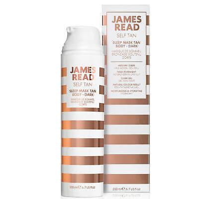 James Read Self Tan Sleep Mask Body Overnight 1x200ml Medium/Dark NEW