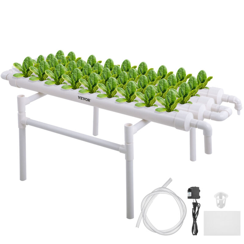 Hydroponic Site Grow Kit 36 Planting Sites 4 Pipes Melon Garden System Vegetable