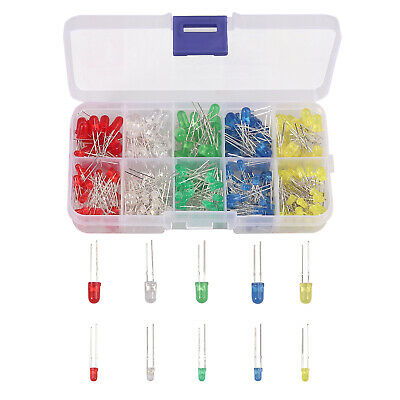 525pcs 17 Values 1 Resistor Kit Assortment 0 Ohm-1m Ohm With Led Lamp Diodes Us