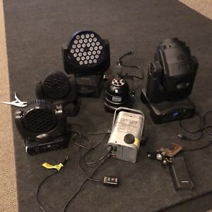Various Moving Heads, LED Lights, fogger, strobe, Chauvet
