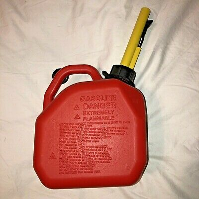 Ameri-can Fuel Tank 1 Gal 4lcontainer W Spout - Spill-proof Child Resistant