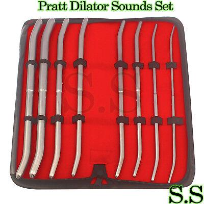 Pratt Uterine Dilator Set Of 8 Curved Gynecology Surgical O.r Grade 13 - 43 Fr