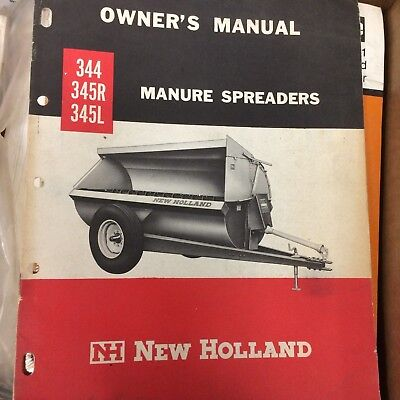 New Holland 344 345r 345l 346 Manure Spreader Owners Manual