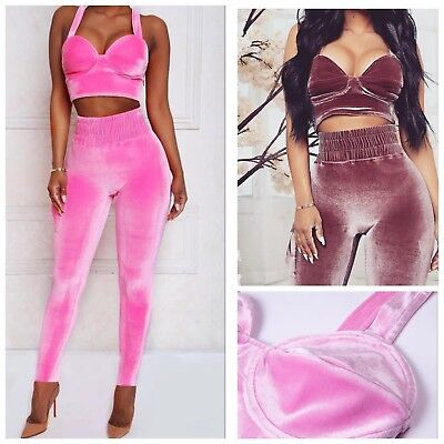 New Sexy BARBIE Pink Purple Soft Bodycon Home Party 2 Two Piece Dress Set - Home Party Outfit