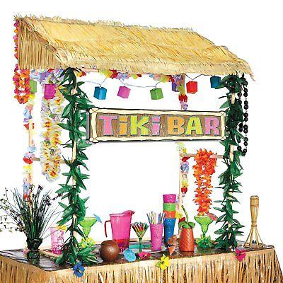 Hawaiian Luau Tiki Hut Bar Frame Prop Summer Beach Garden Party Kit Decoration (Tiki Hut Kits)