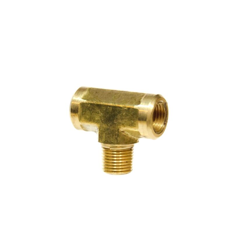 """1/8"""" NPT Brass Female Male Center Branch Tee Fitting Fuel, Air, Water, Oil, Gas"""