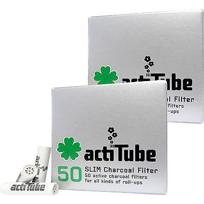 2 x 50 = 100 actiTube SLIM Aktivkohlefilter Aktivkohle Filter Tune Slimfilter