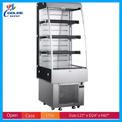 27 Open Air Cooler Refrigerator Display Case Drinks Deli Case Nsf
