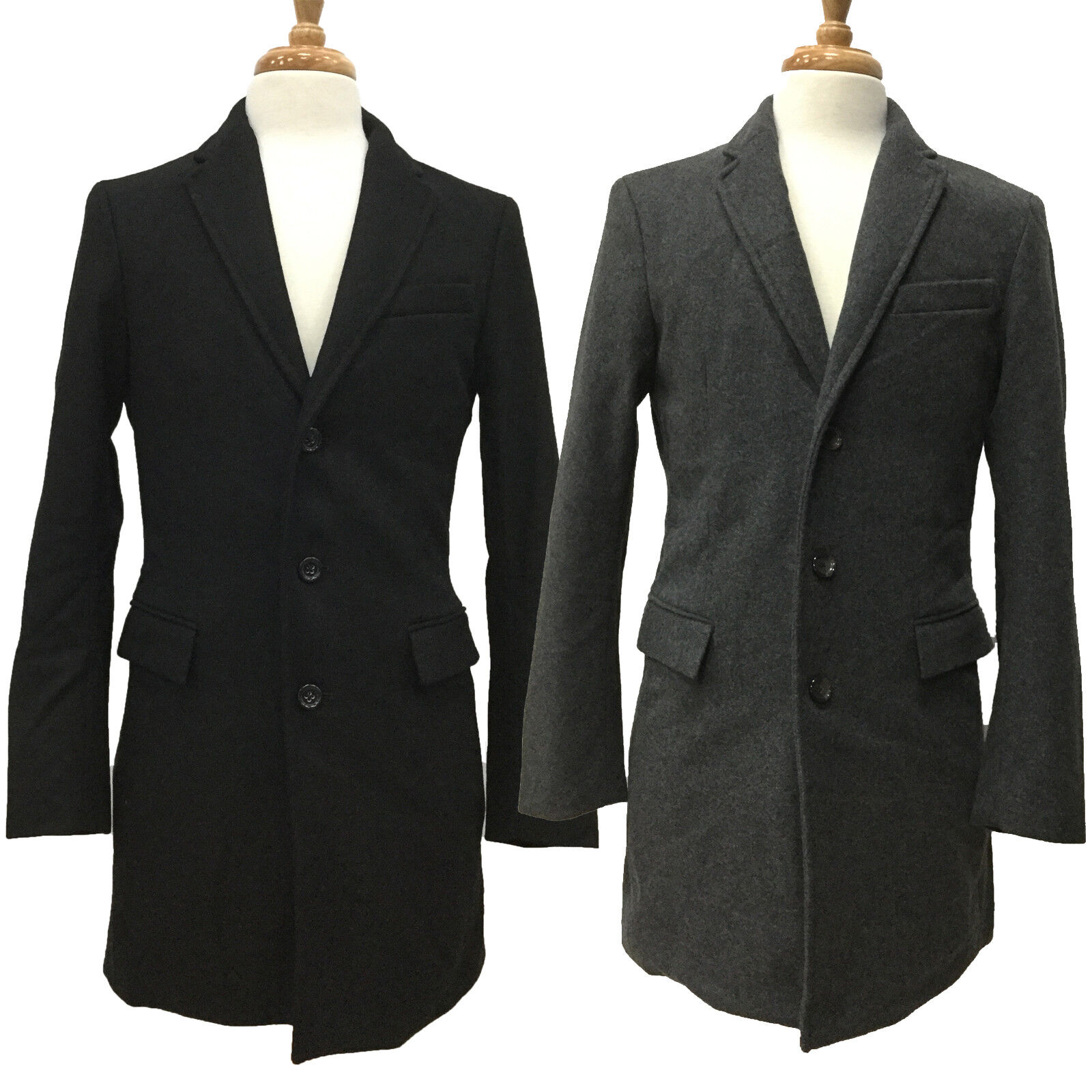 men s wool cashmere 3 button dress