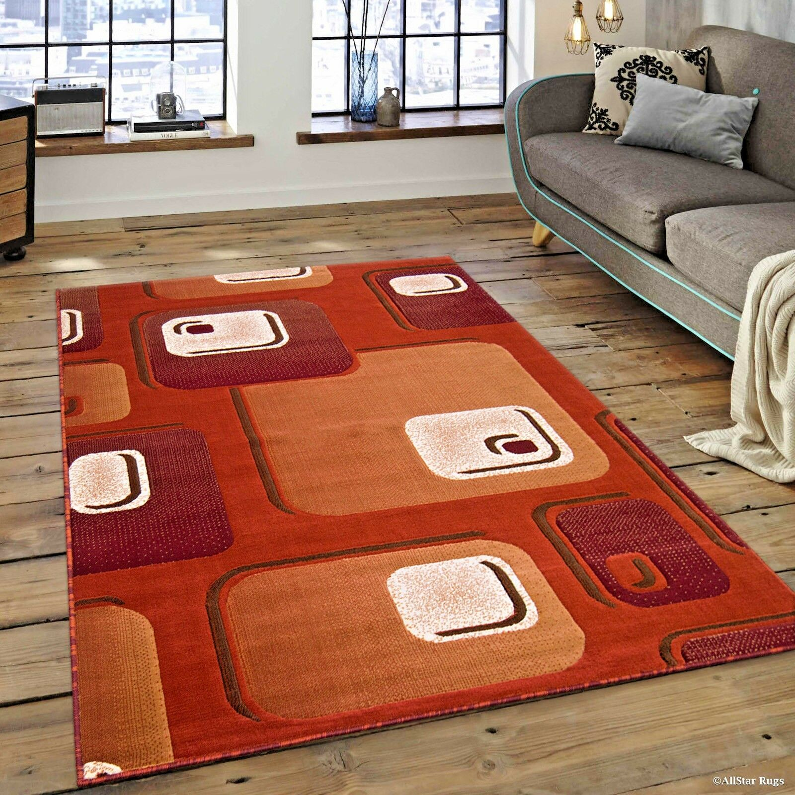Details about RUGS AREA RUGS CARPETS 8x10 AREA RUG MODERN BIG LARGE ROOM  COOL FLOOR RED RUGS ⭐