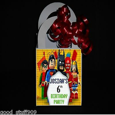 BATMAN LEGO 12 Personalized Birthday Party Favor Small  Boxes Ribbon