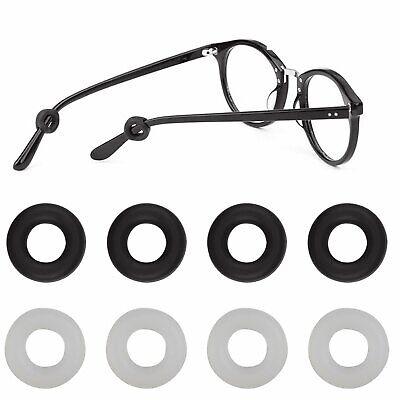 4 Pairs Anti Slip Glasses Ear Hooks Tip Eyeglasses Grip Temple Holder Silicone Eyeglass Straps, Cords & Grips