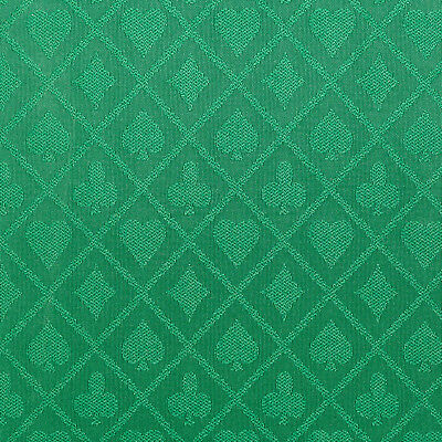 PRO Suited Speed Cloth for Poker Tables - Solid Green (6 Feet) - Casino Table Cloths