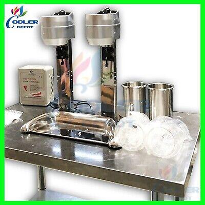 Double Milkshake Mixer Machine Ice Cream High Speed Mixing 110v Cooler Depot