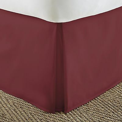 Ultra Plush Premium Pleated Bed Skirt Dust Ruffle by The Hom