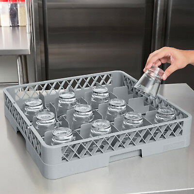 4 Pack Commercial Dishwasher Machine 16 Cup Glass Tray Rack Automatic