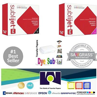 Sawgrass Sublimation Ink Magenta Black Cartridges For Sg400sg800 Free Paper