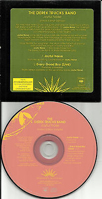 DEREK TRUCKS Joyful Noise RARE LIVE Every Good PROMO CD single Allman Brothers