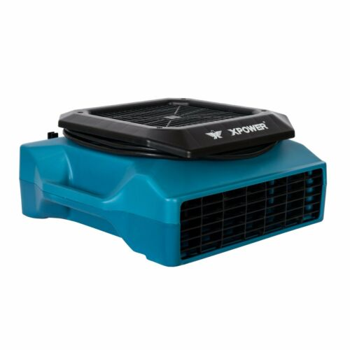 XPOWER PL-700A 1/3 HP 3 Speed Low Profile Fan Air Mover Carpet Dryer w/ Outlets