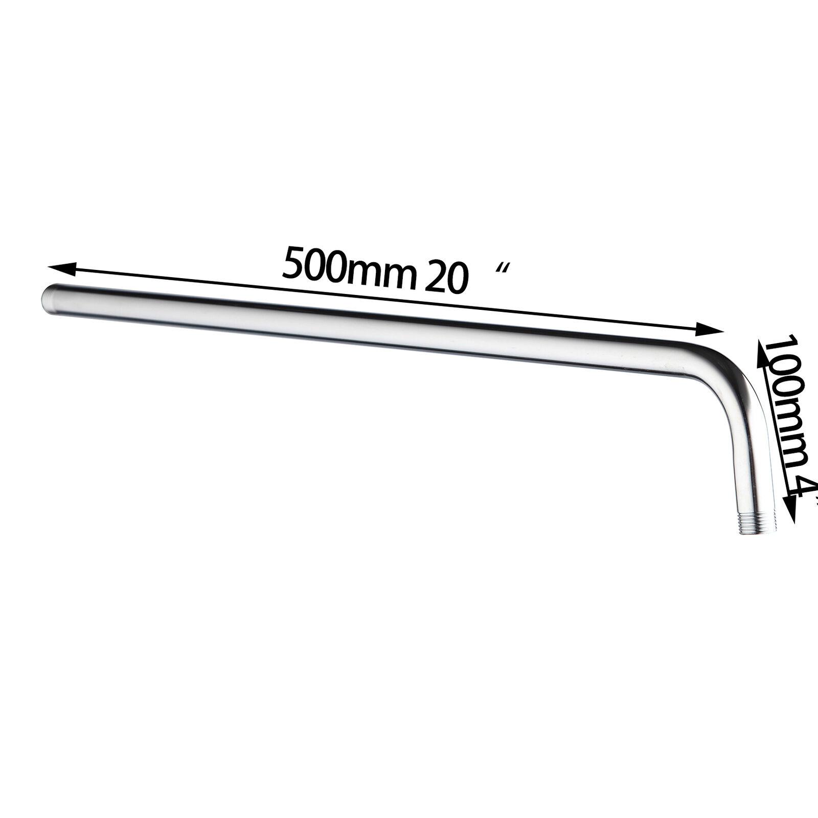 "EUB Bath Chrome Stainless Steel 10/"" Round Rainshower Wall Mounted Shower Arm Set"