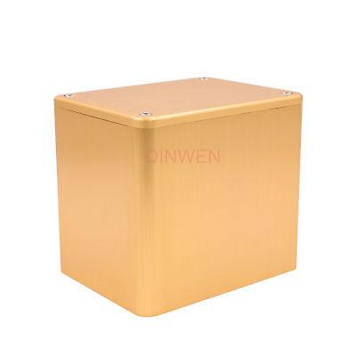 - 130*100*116mm Aluminum Transformer Triode Cover Enclosure Case Box Hifi DIY Gold