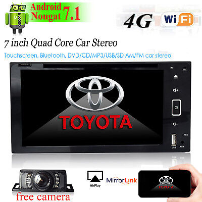 HD Android 7.1 Car DVD Player GPS Radio DAB Stereo for Toyota RAV4 Corolla Hilux