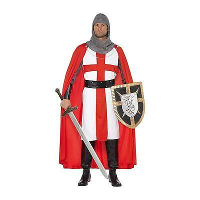 Herren Deluxe Erwachsene Ritter st George England Kreuzfahrer Mittelalter - England Ritter Kostüm