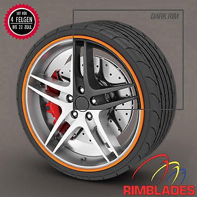 FELGENSCHUTZ Rimblades ORANGE Felgenschutzringe Rim Guard Wheel Protector Rings