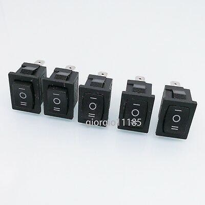 Us Stock 5pcs Black 3 Pin Onoffon Spdt Boat Car Rocker Switch 10a 125vac Kcd1