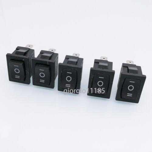 US Stock 5pcs Black 3 PIN ON/OFF/ON SPDT Boat Car Rocker Switch 10A 125VAC KCD1