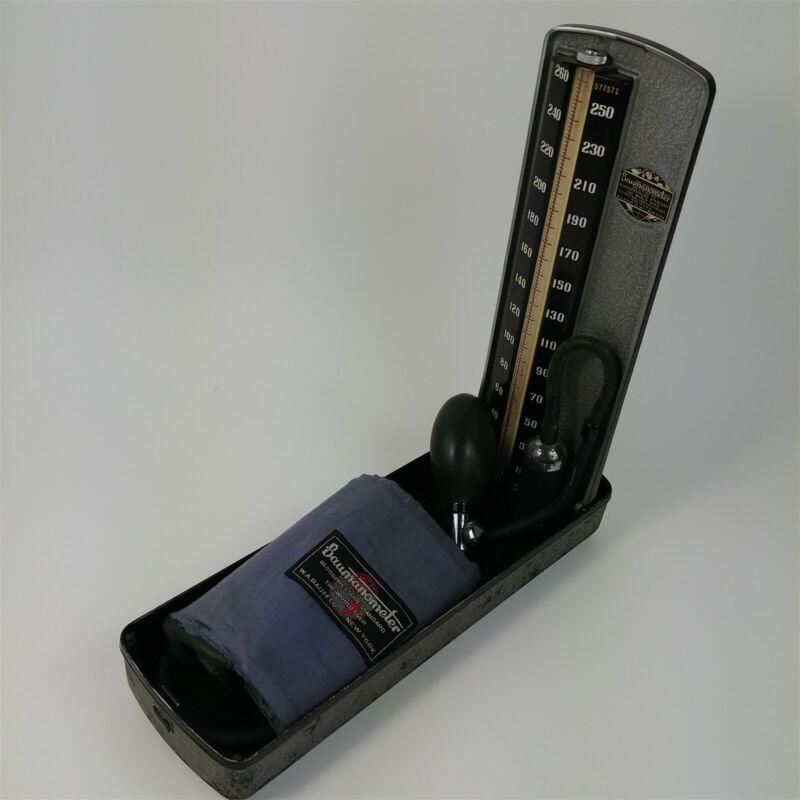 Baumanometer Blood Pressure Kit w/ Case Etched Name - Kompak Model Vintage