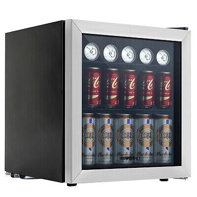 Refrigerator Mini Beer Beverage Fridge Glass Door Black 62 Can Beverage Cooler