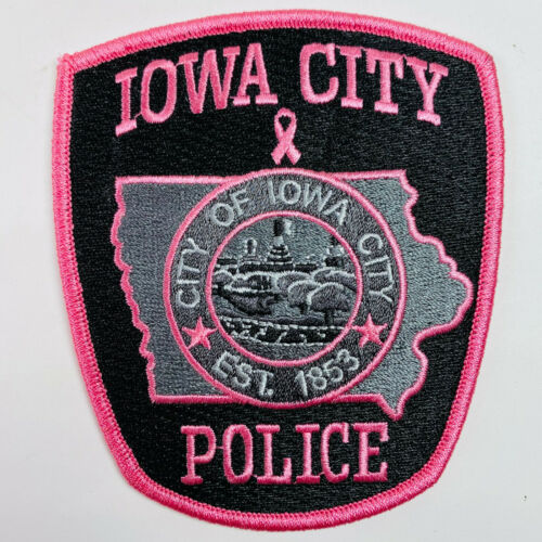 City Of Iowa City Police Pink Breast Cancer Awareness IA Patch