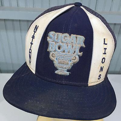 Penn State Nittany Lions Sugar Bowl VTG 70's Snapback Baseball Hat Cap Sugar Bowl Hat