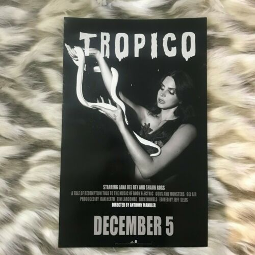 1pc Two Sided Lana Del Rey Tropico Born to Die The Paradise Edition Promo Poster