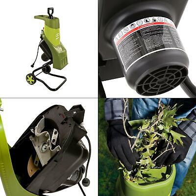 1.5 in. 14 amp electric wood chipper/shredder   joe sun garden yard new