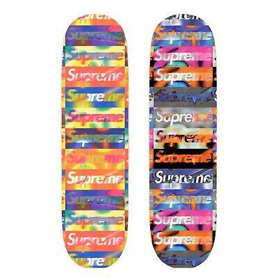 Supreme Distorted Logo Skateboard Deck PAIR - Brand New - Deadstock - SS20