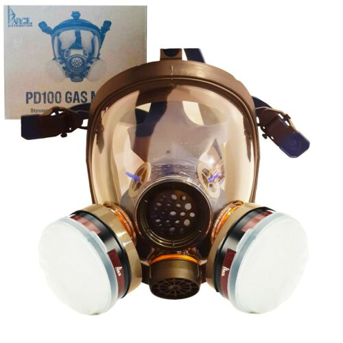 Parcil PD100 Full Face Respirator Mask - 2 Filters Included