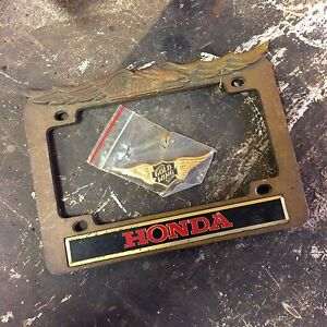 Honda License Plate Bracket and Goldwing Badge